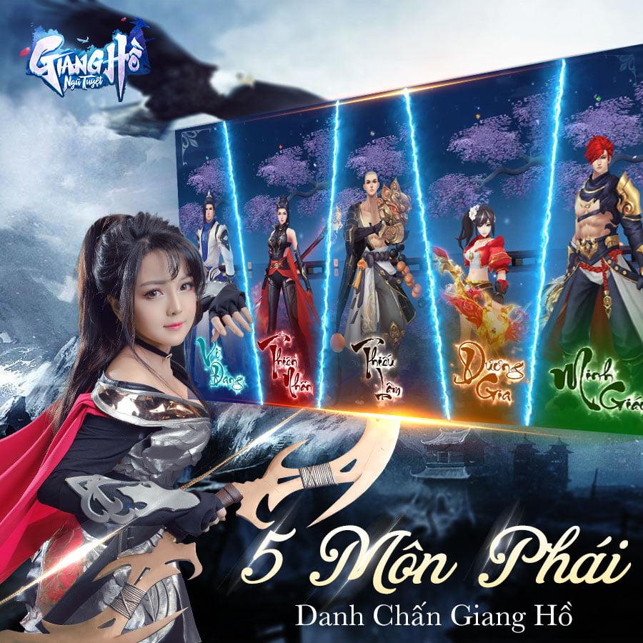 Giang Hồ Ngũ Tuyệt, game mobile mới từ VTC Mobile sắp ra mắt trong tháng 7