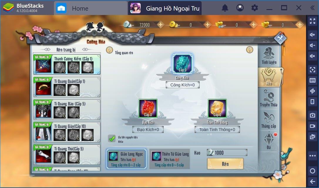 Nâng cấp kỹ năng, gia tăng sức mạnh người chơi Giang Hồ Ngoại Truyện