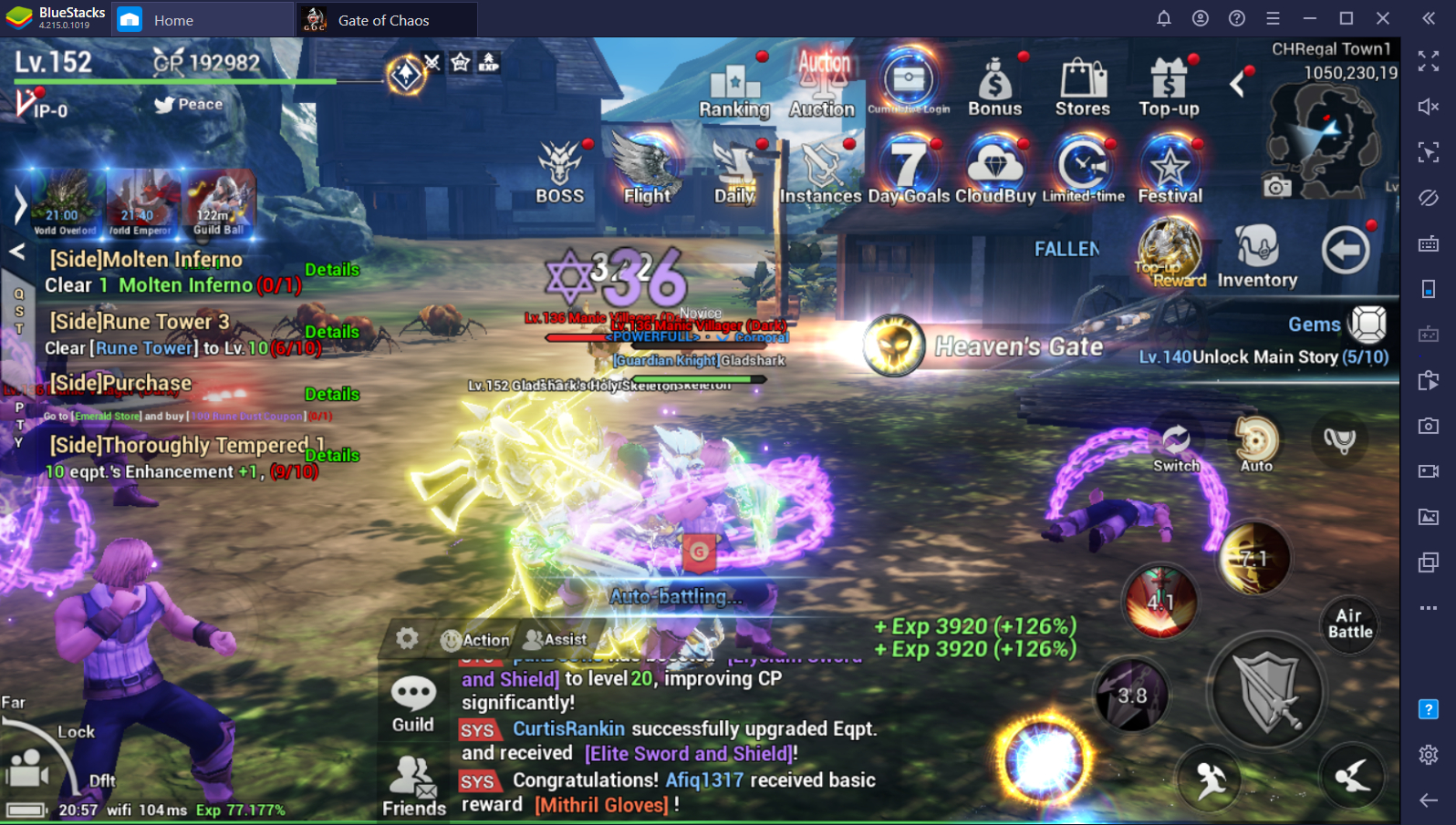 Maximize AFK Farming Rewards in Gate of Chaos on PC with BlueStacks