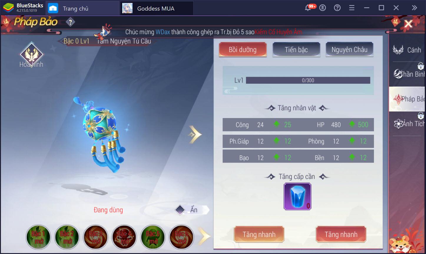 Cách nâng cấp và làm thế nào để mạnh hơn trong Goddess MUA