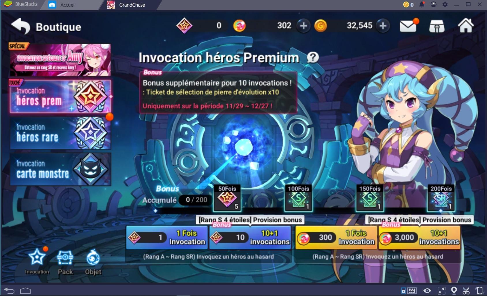 GrandChase : guide d'invocation et amélioration des héros