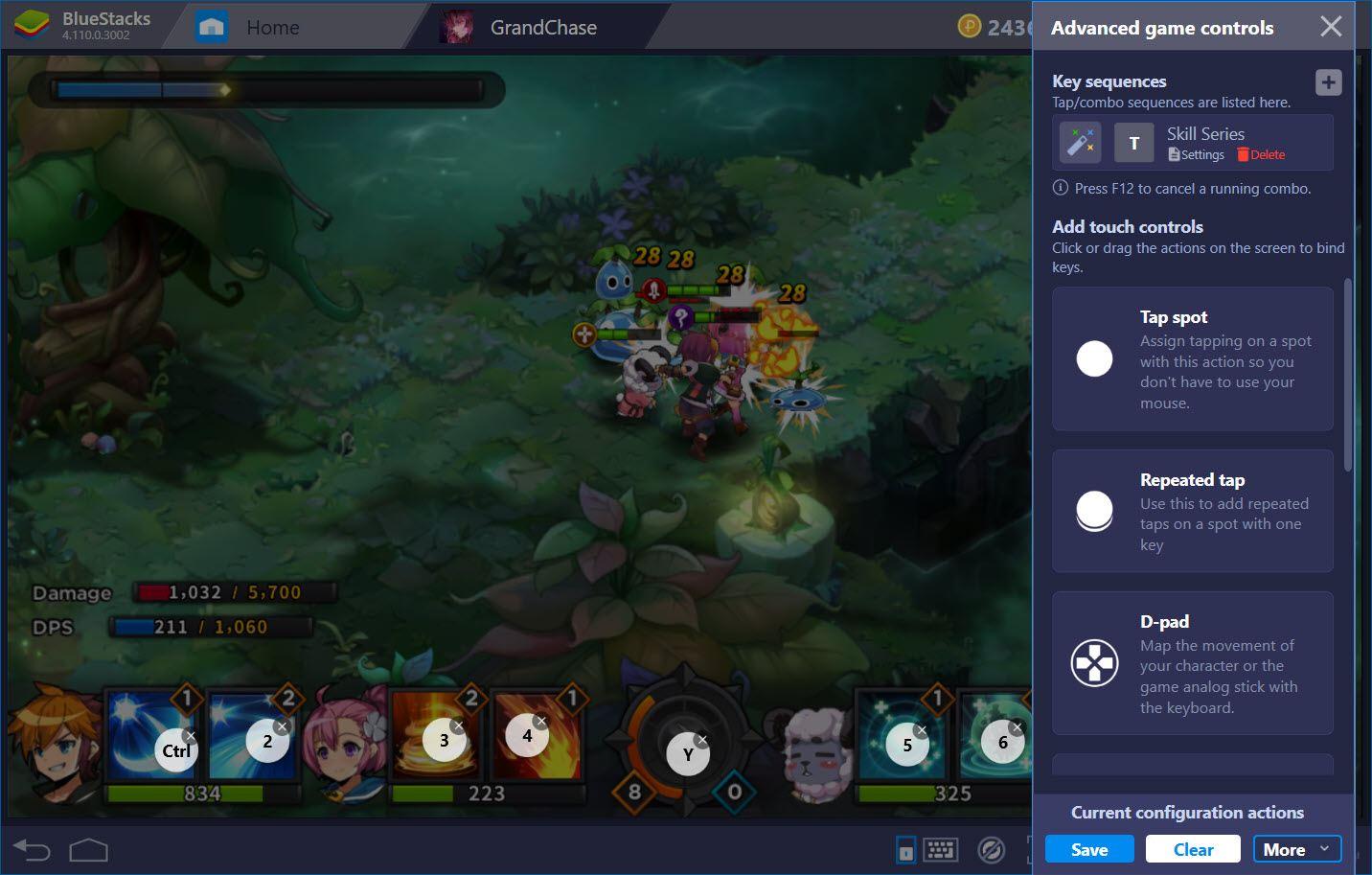 Hướng dẫn thiết lập Game Controls khi chơi GrandChase với BlueStacks