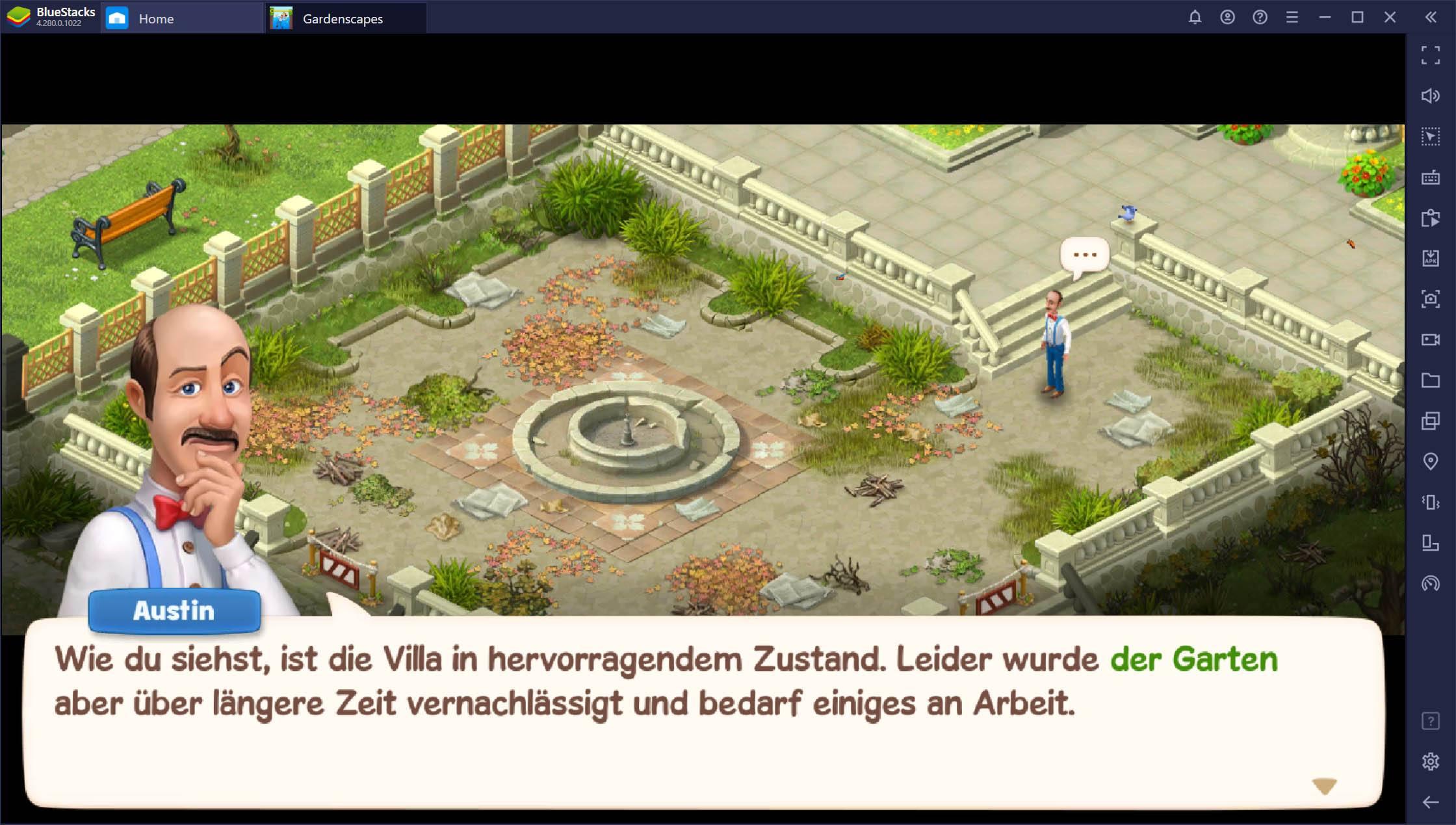 So spielst du Gardenscapes auf dem PC mit BlueStacks