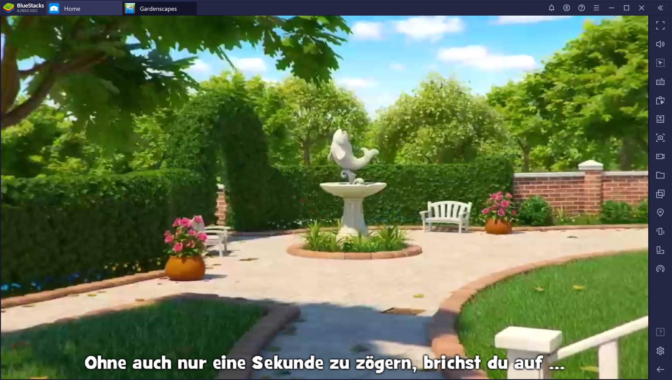 Gardenscapes – Interaktionen-Leitfaden für Fortgeschrittene