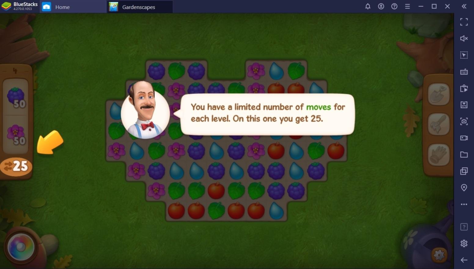 دليل المبتدئين للعب لعبة Gardenscapes
