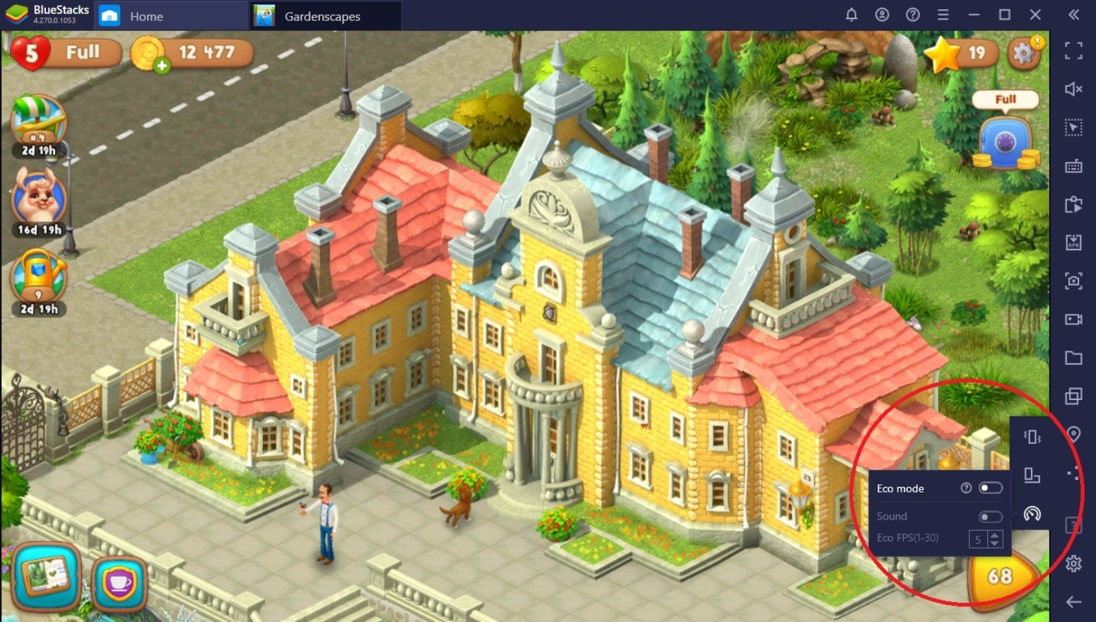 كيفيّة لعب لعبة Gardenscapes على جهاز الكمبيوتر باستخدام محاكي BlueStacks