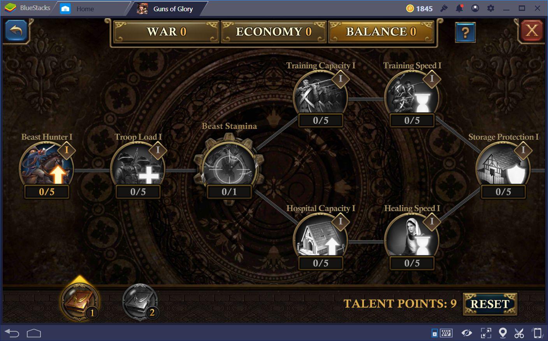 نصائح وحيل لتحسين نجاحك في Guns of Glory على جهاز الكمبيوتر