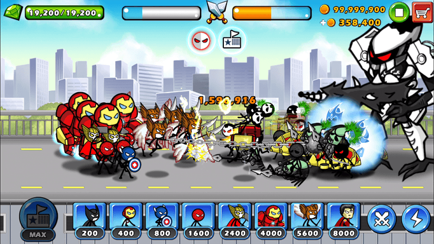 Chơi HERO WARS: Super Stickman Defense on PC 14