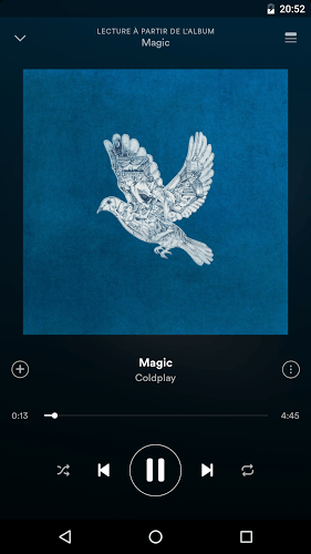 Joue Spotify android app on pc 2