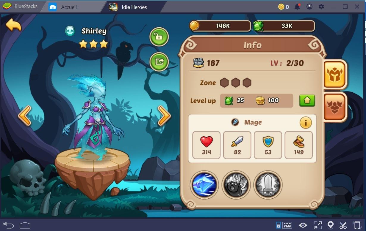 Idle Heroes : La prise en main de l'interface et votre premier combat