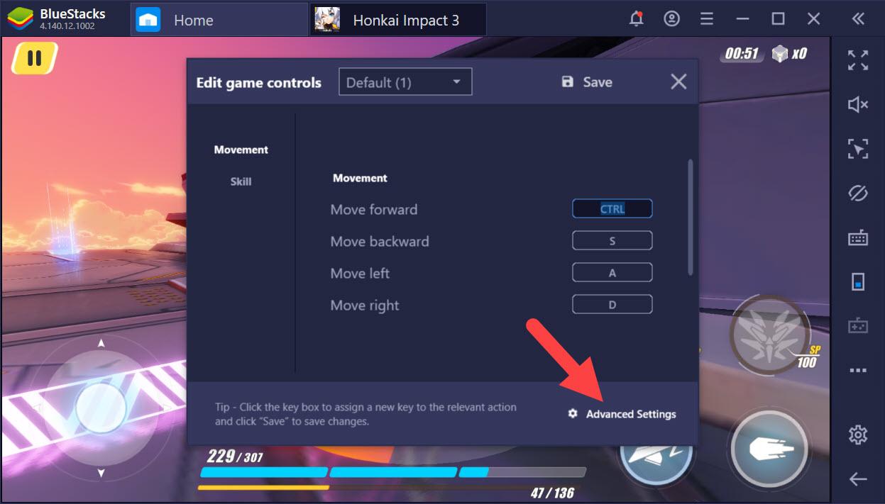Thiết lập Game Control tối ưu combo khi chơi Honkai Impact 3