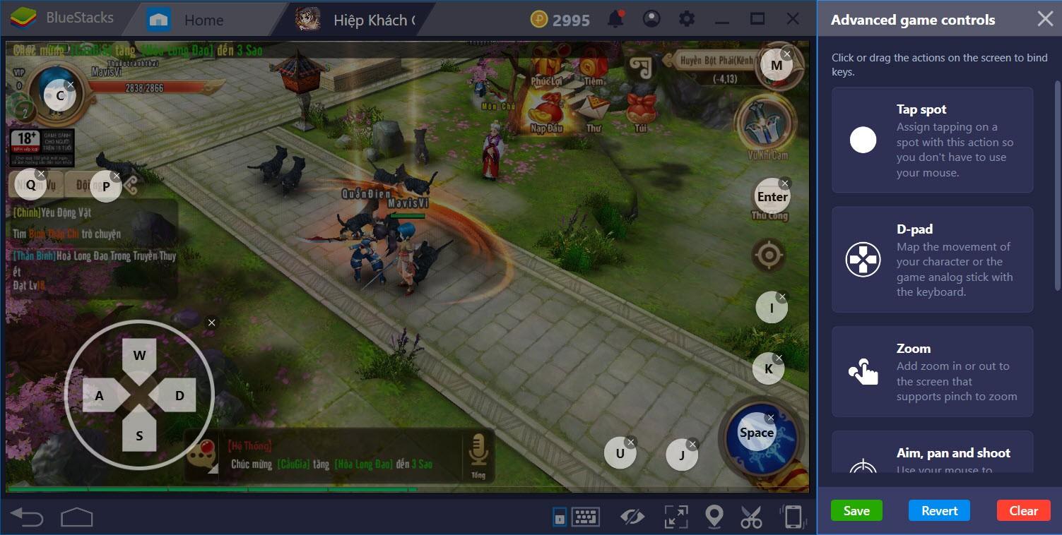 Hướng dẫn thiết lập Game controls khi chơi Hiệp Khách Giang Hồ với BlueStacks 4