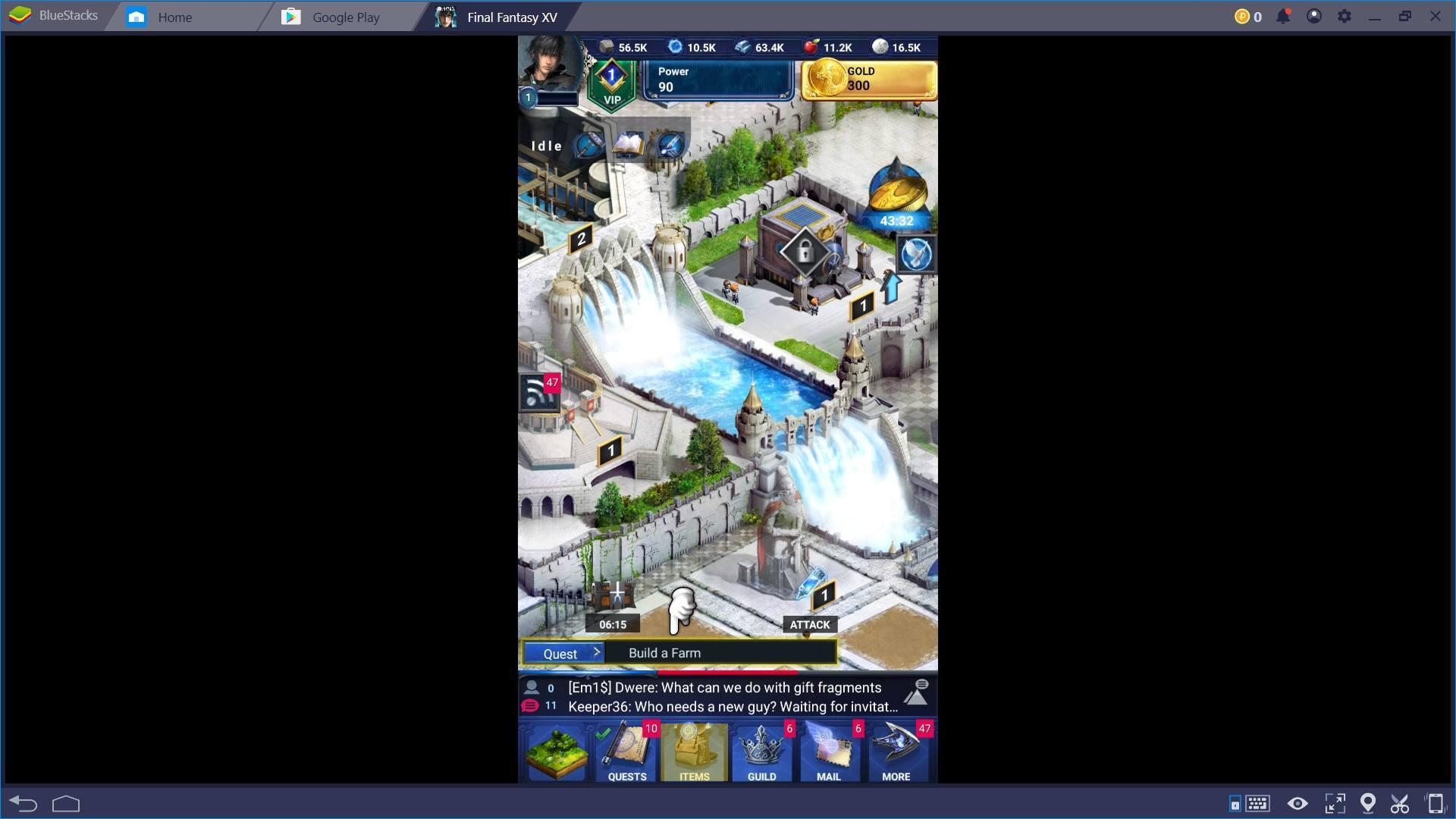 BlueStacksを使ってPCでファイナルファンタジー15:新たなる王国を遊ぼう