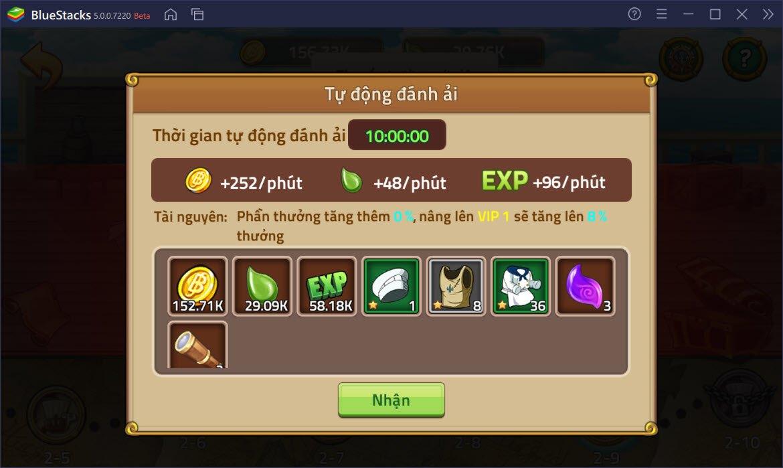 Cách nâng cấp, tìm kiếm nguyên liệu cho nhân vật trong Huyền Thoại Hải Tặc