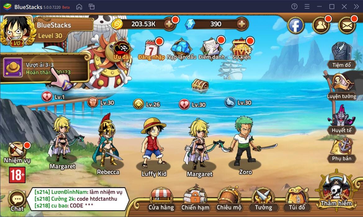 Tổng quan các chế độ chơi trong Huyền Thoại Hải Tặc