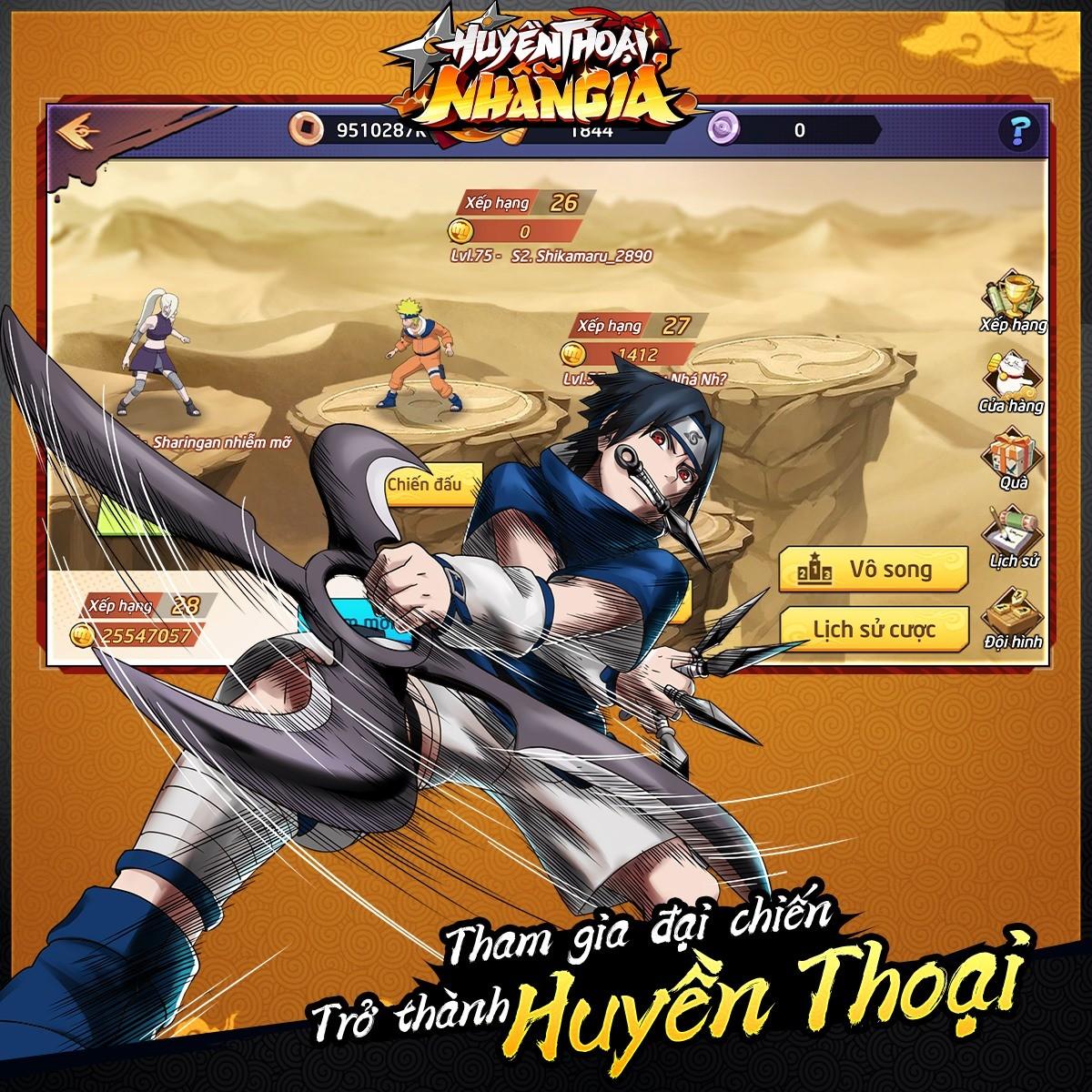 Huyền Thoại Nhẫn Giả: Thêm một game mobile đề tài Naruto chuẩn bị ra mắt