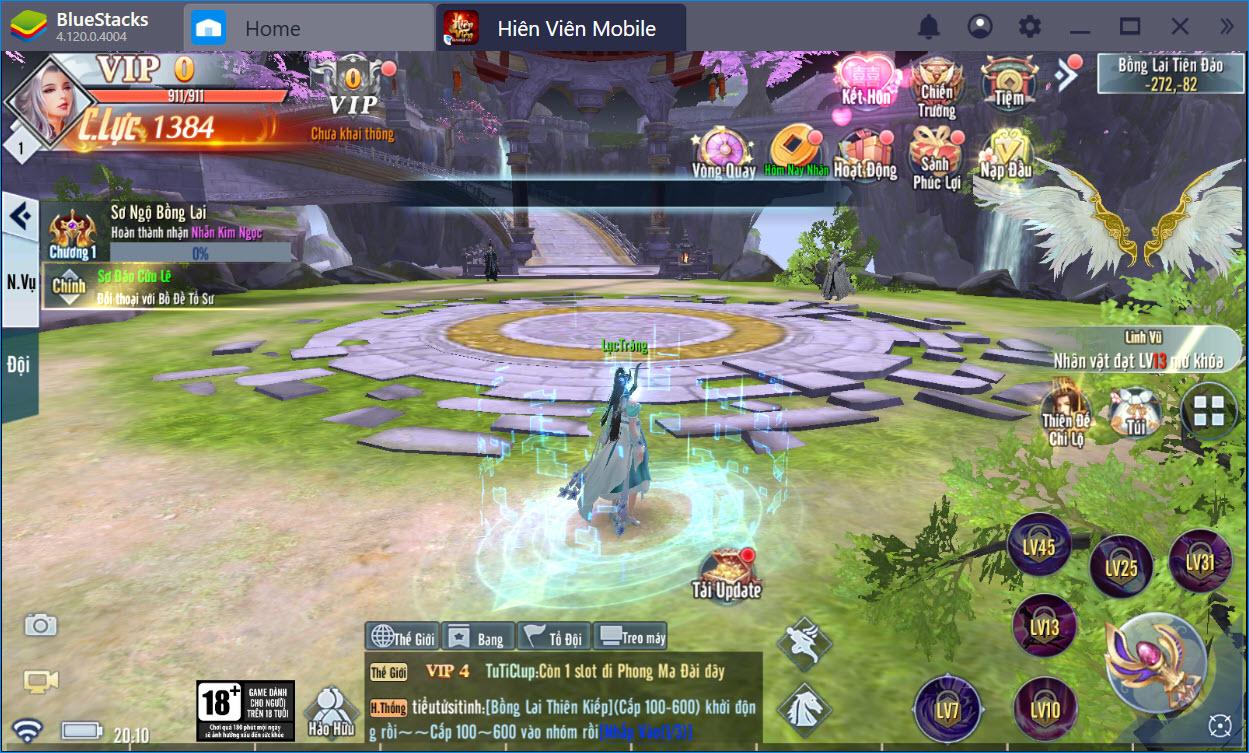 Du ngoạn thế giới tuyệt đẹp của Hiên Viên Mobile trên PC cùng BlueStacks