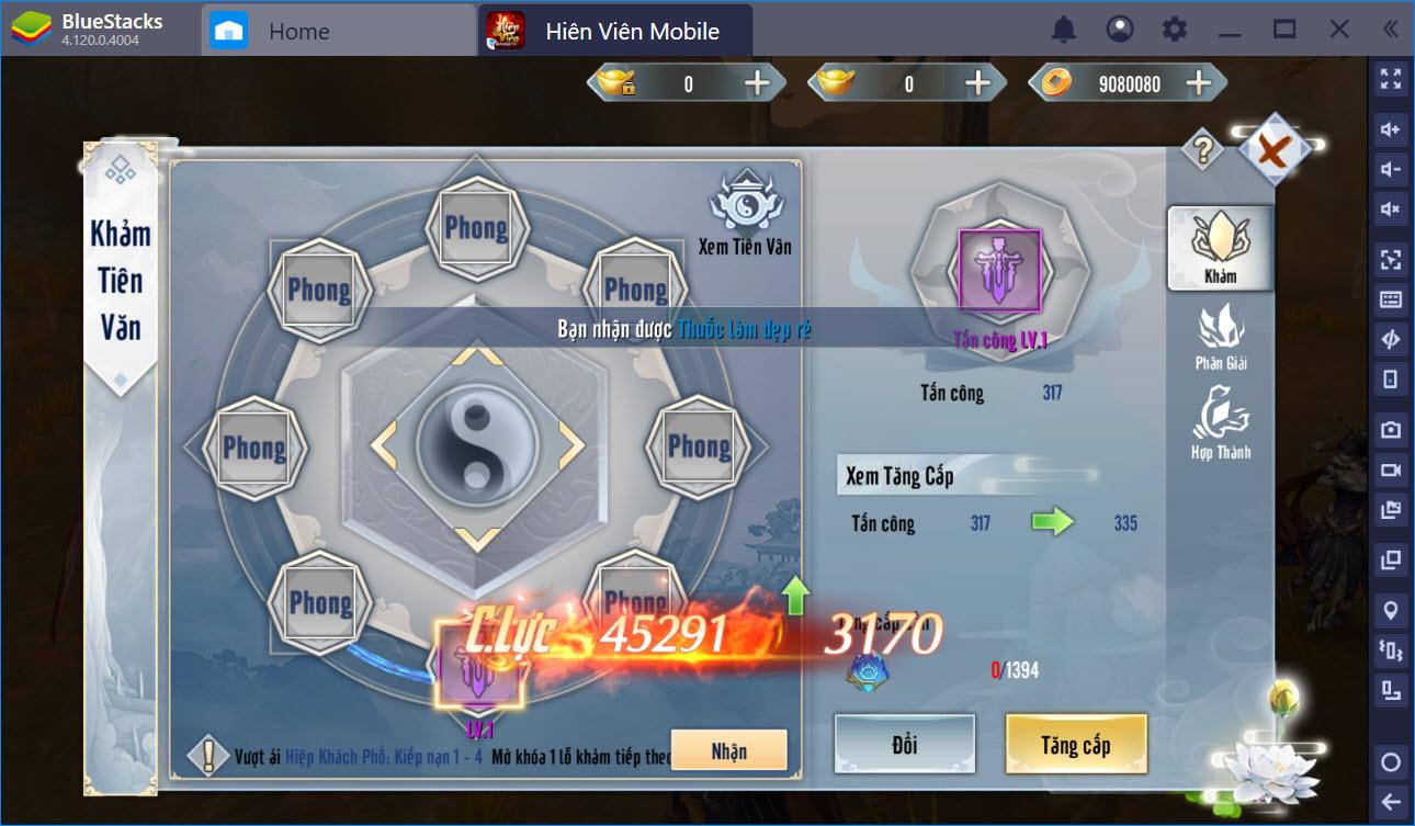 Hướng dẫn cường hóa, gia tăng sức mạnh kỹ năng nhân vật trong Hiên Viên Mobile