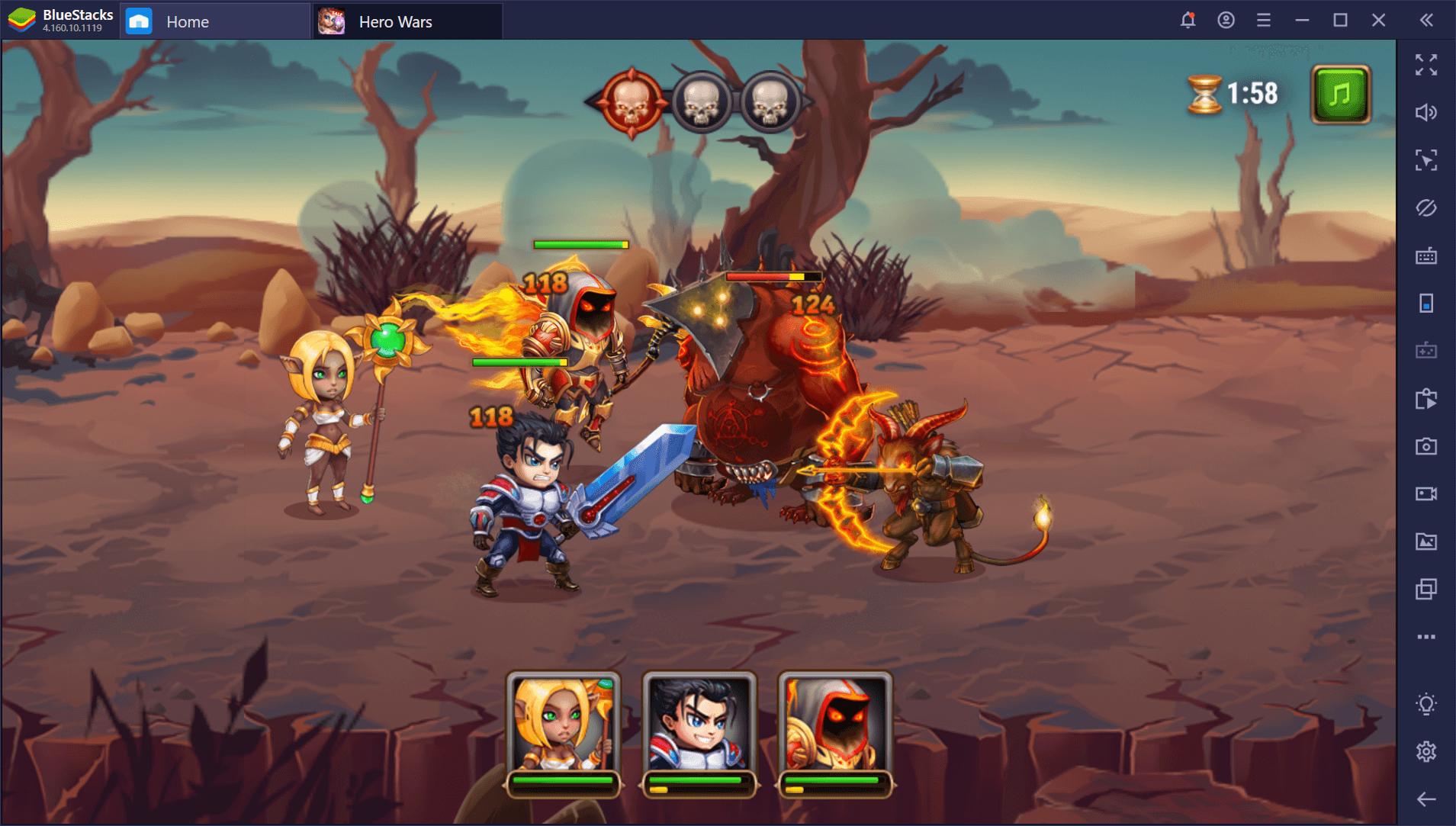 Beste Charaktere und Teamaufbau-Tipps für Hero Wars auf dem PC