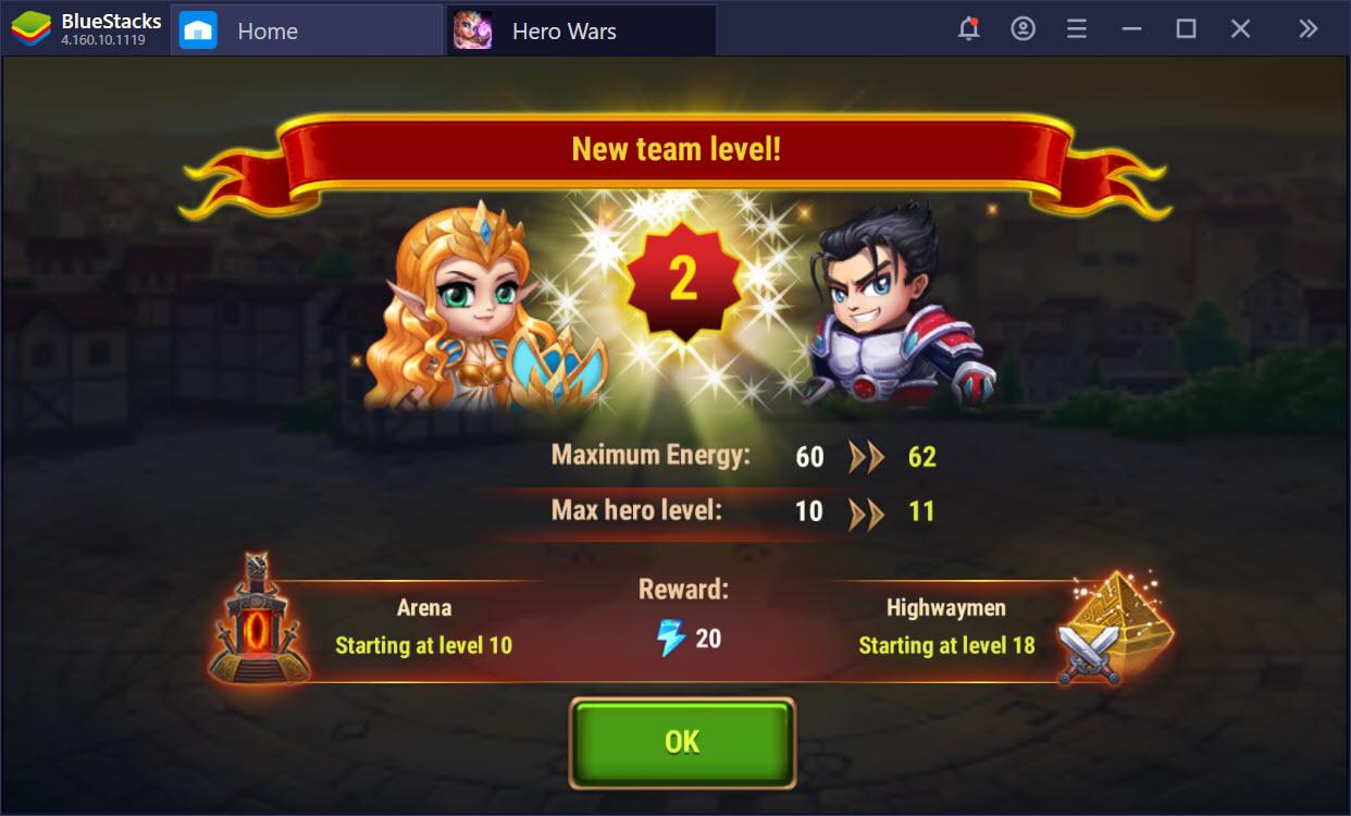 Cùng chơi Hero Wars – một game cực sáng tạo trên BlueStacks