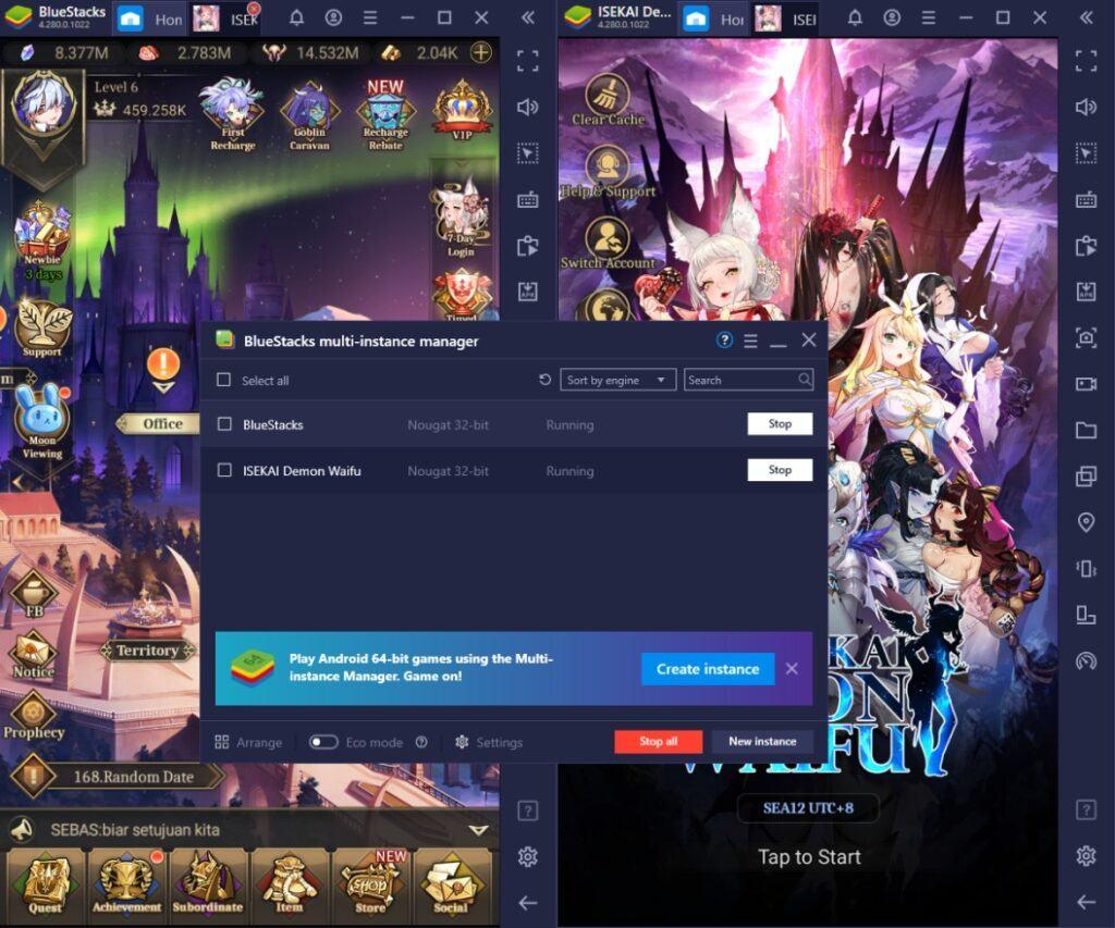 So spielt man ISEKAI: Demon Waifu auf dem PC mit BlueStacks
