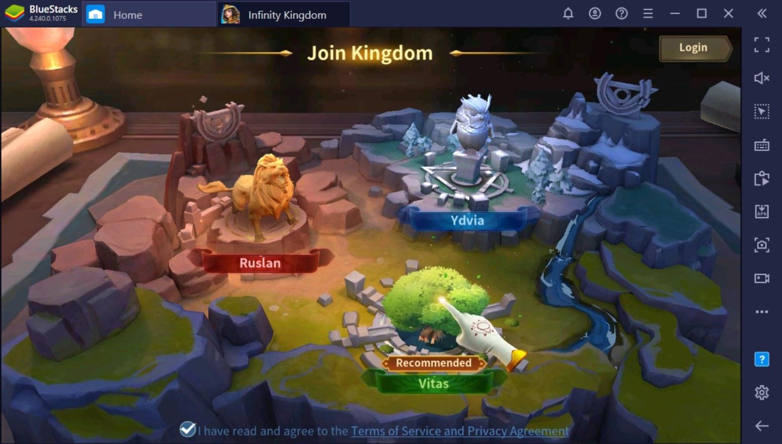 كيف تلعب لعبة Infinity Kingdom على جهاز الكمبيوتر باستخدام BlueStacks