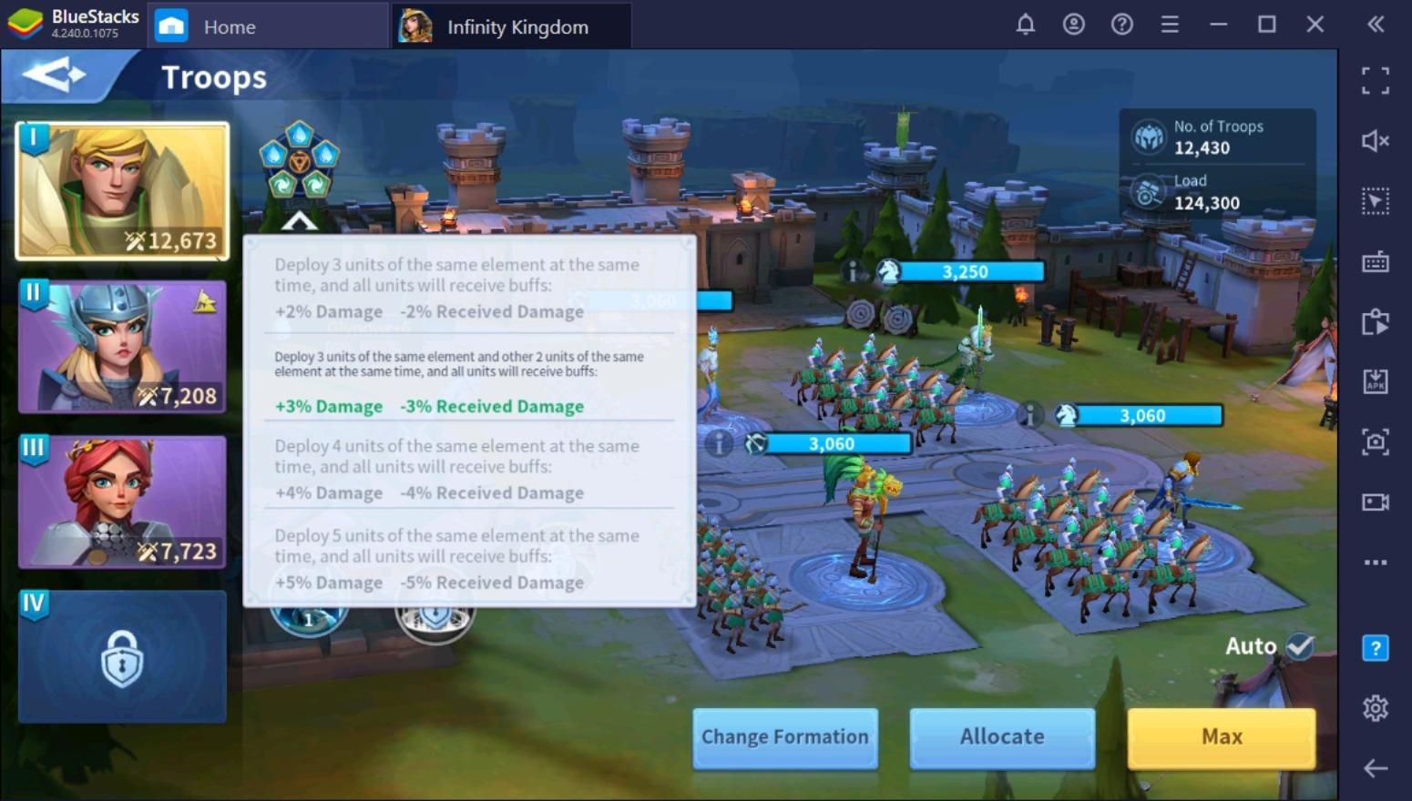 إنشاء أقوى جيش في لعبة Infinity Kingdom على جهاز الكمبيوتر