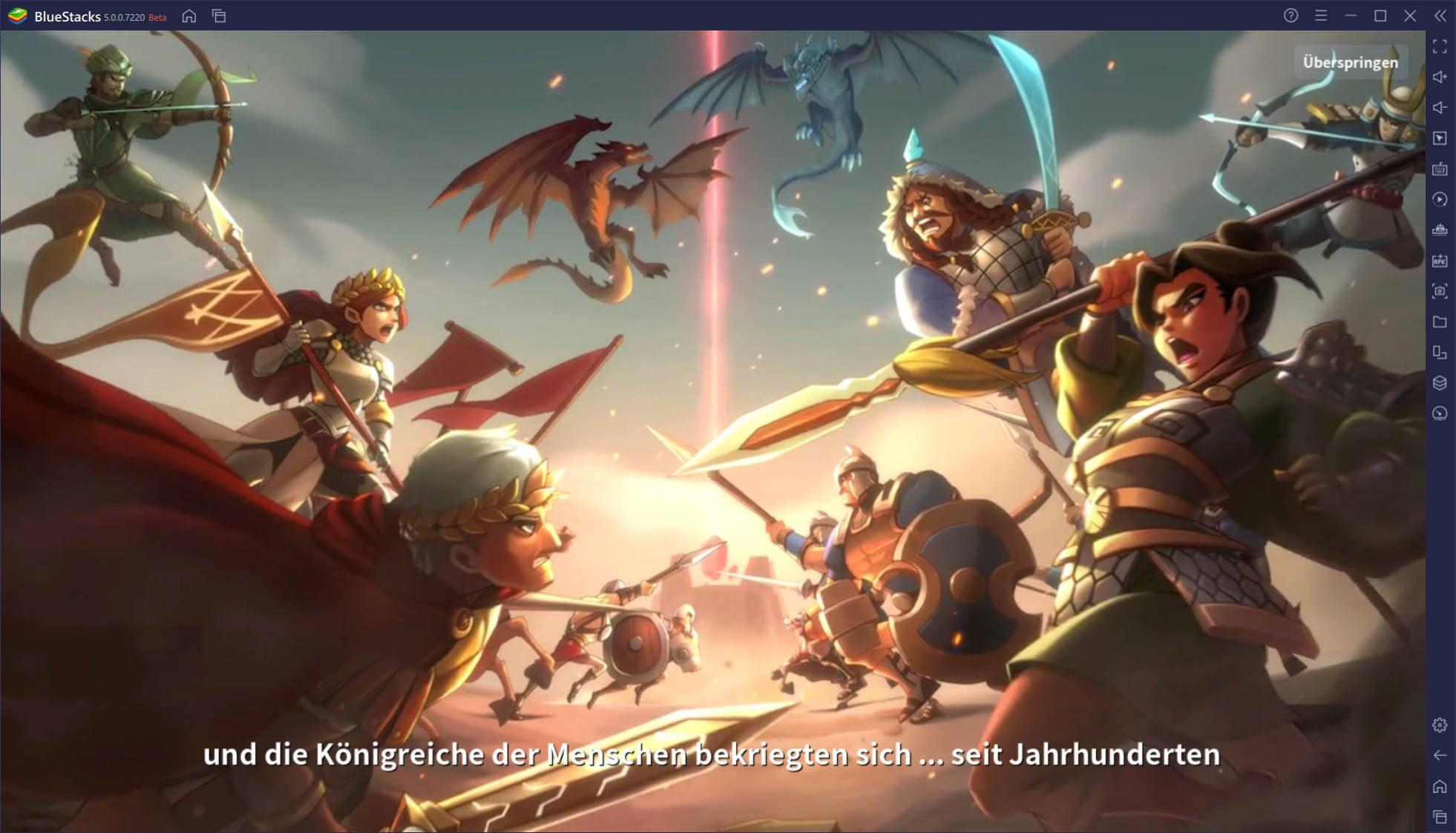 Wie du Infinity Kingdom mit BlueStacks auf deinem PC spielst