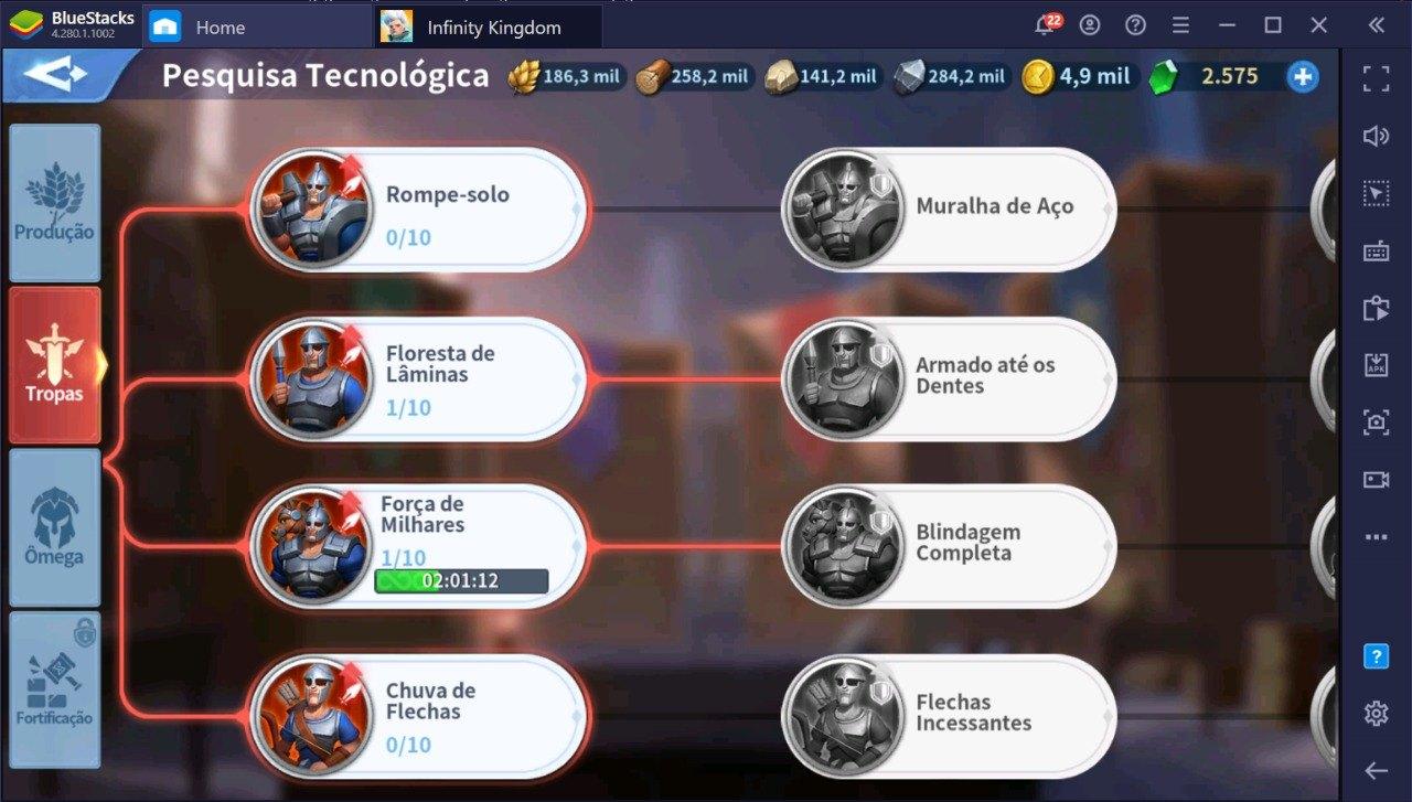 Use seu PC para construir o Exército Mais Poderoso em Infinity Kingdom