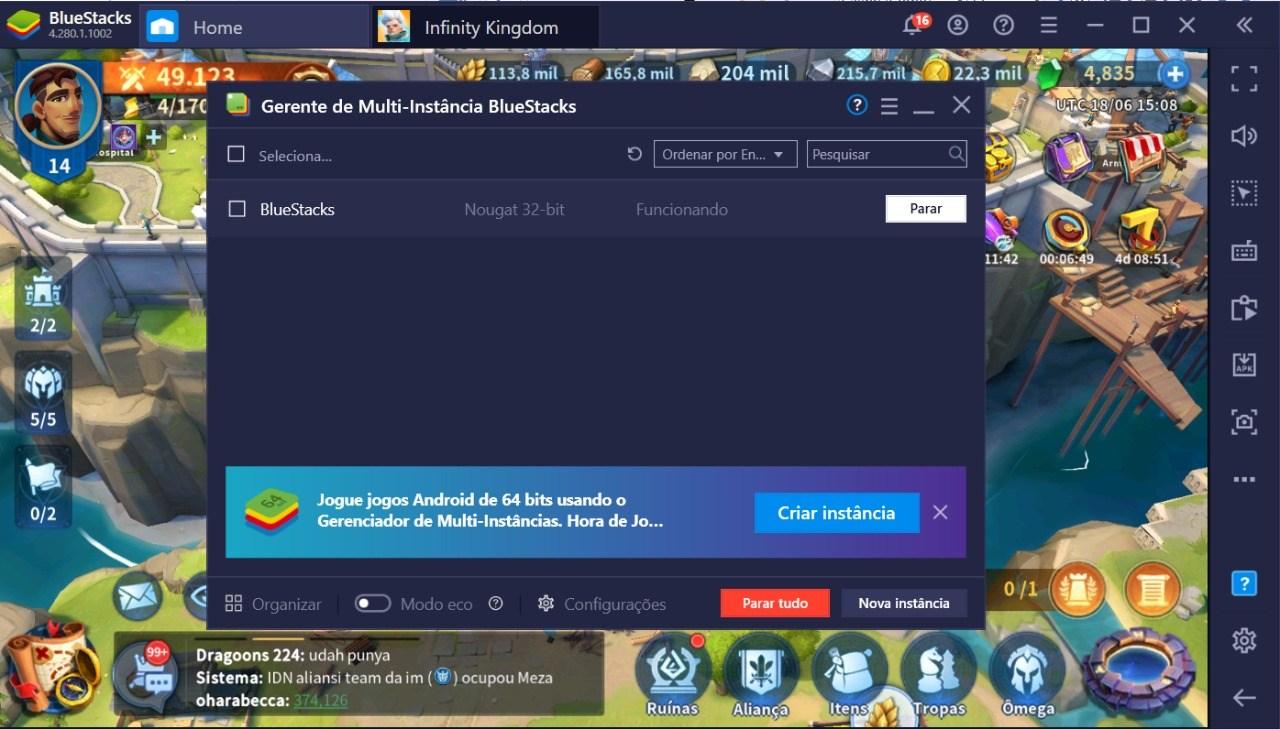 Como Jogar Infinity Kingdom no PC Usando o BlueStacks