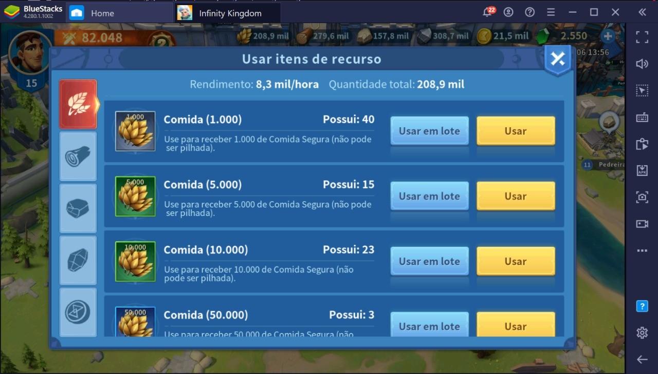 Como Conseguir Mais Recursos Jogando Infinity Kingdom no PC