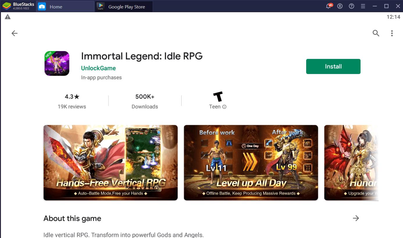 So spielst du Immortal Legend auf deinem PC mit BlueStacks