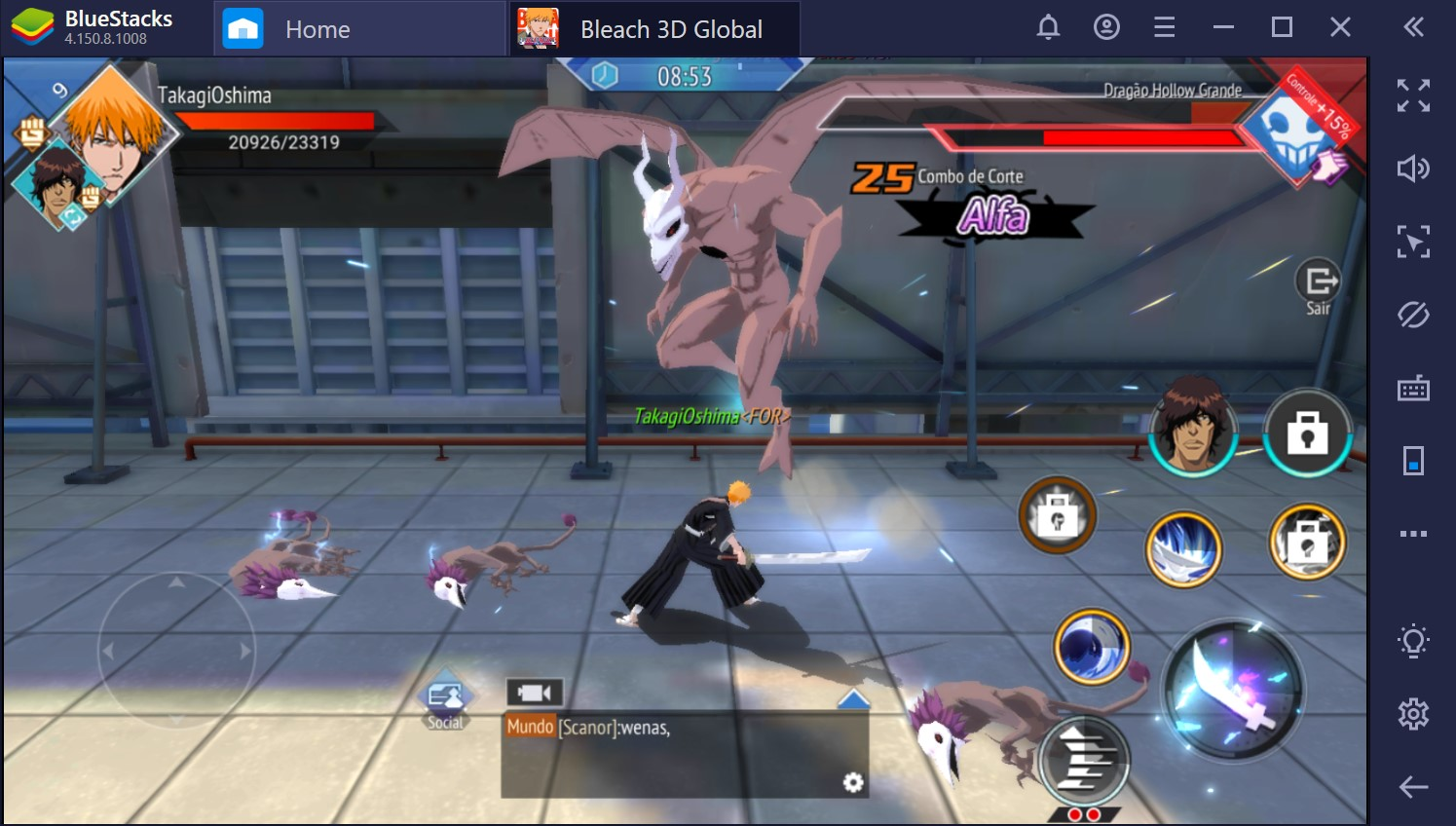 Como jogar Bleach Mobile 3D no PC com o BlueStacks