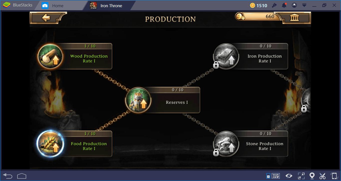 คู่มือการสร้างและระบบทรัพยากรใน Iron Throne