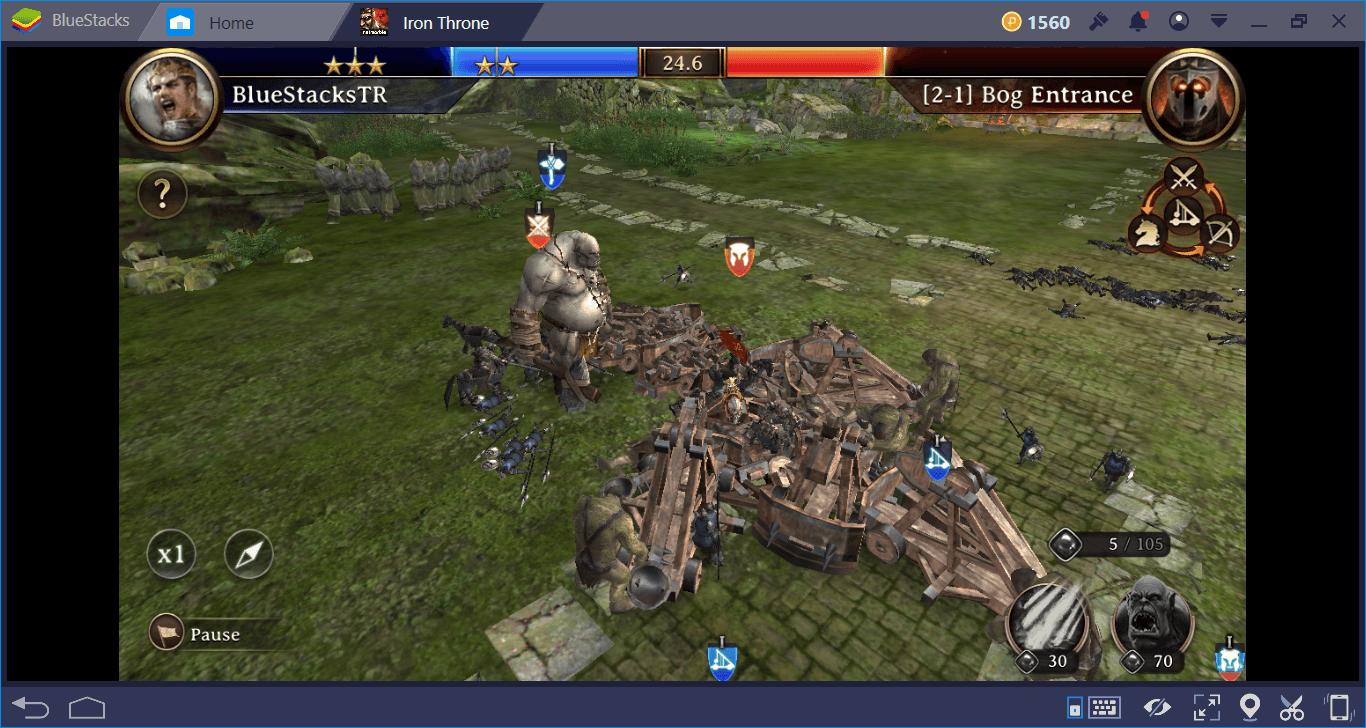 โหมดต่างๆและคู่มือการต่อสู้ใน Iron Throne
