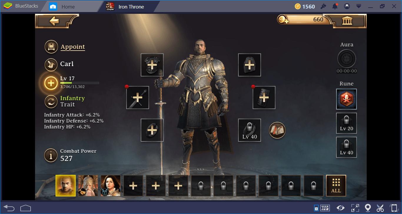 Iron Throne: คู่มือเก็บเลเวลและอัศวิน