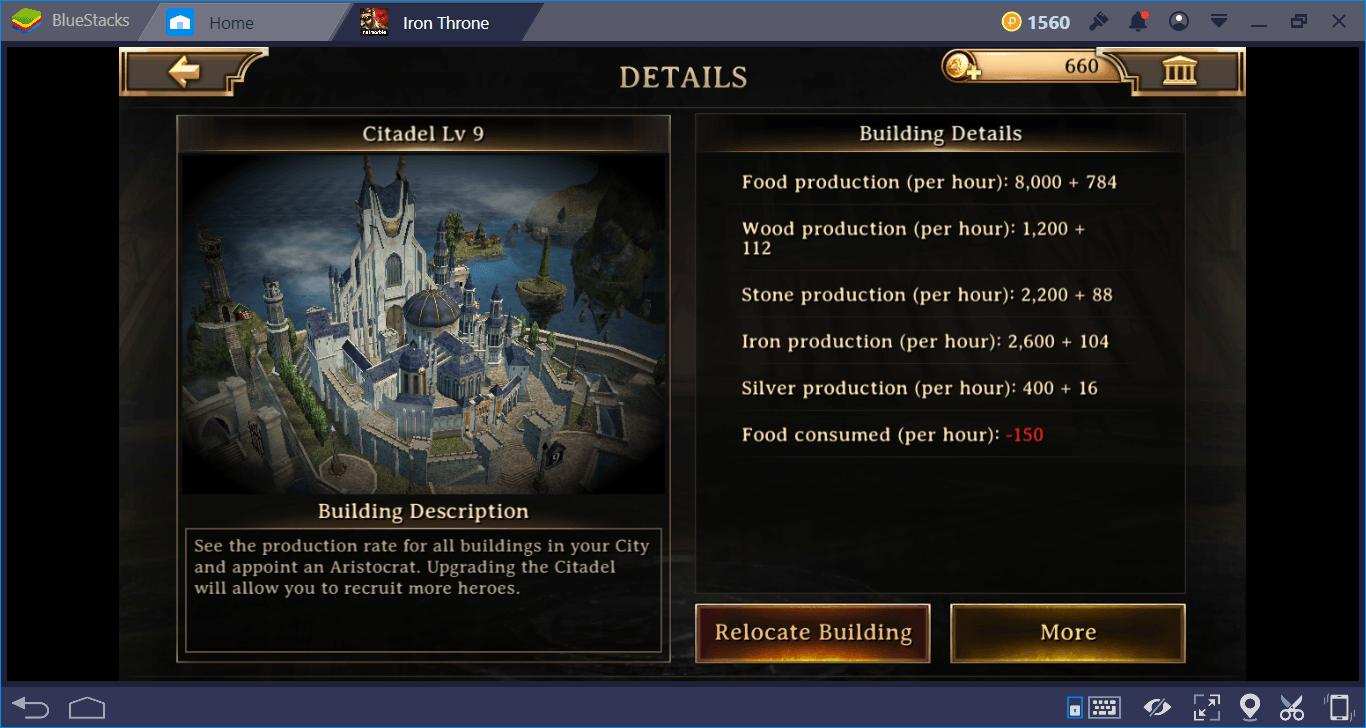 Iron Throne: Hướng dẫn tăng tốc nghiên cứu và phát triển vương quốc