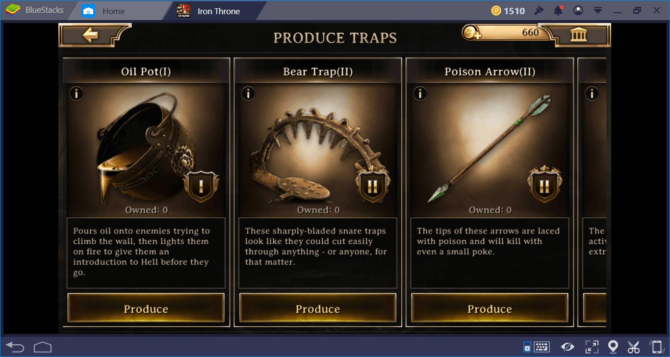 Những mẹo hay cần biết khi chơi Iron Throne