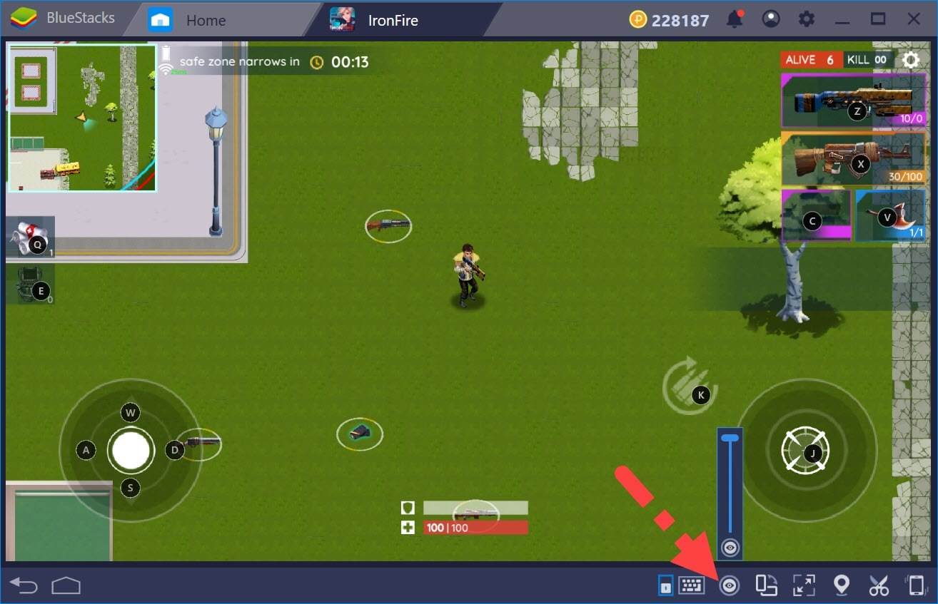 Thiết lập Game Controls khi chơi IronFire với BlueStacks