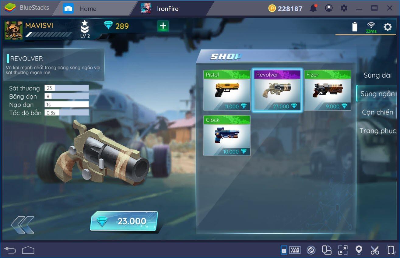 Những loại vũ khí thích hợp cho người mới chơi IronFire