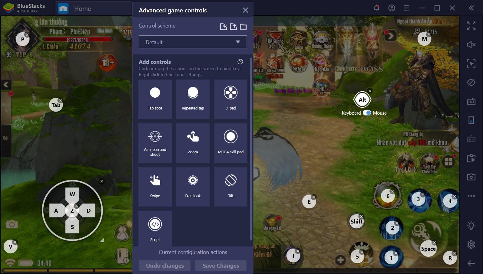 Khám phá Game Control, tính năng được ưu ái trên Kiếm Đế 3D
