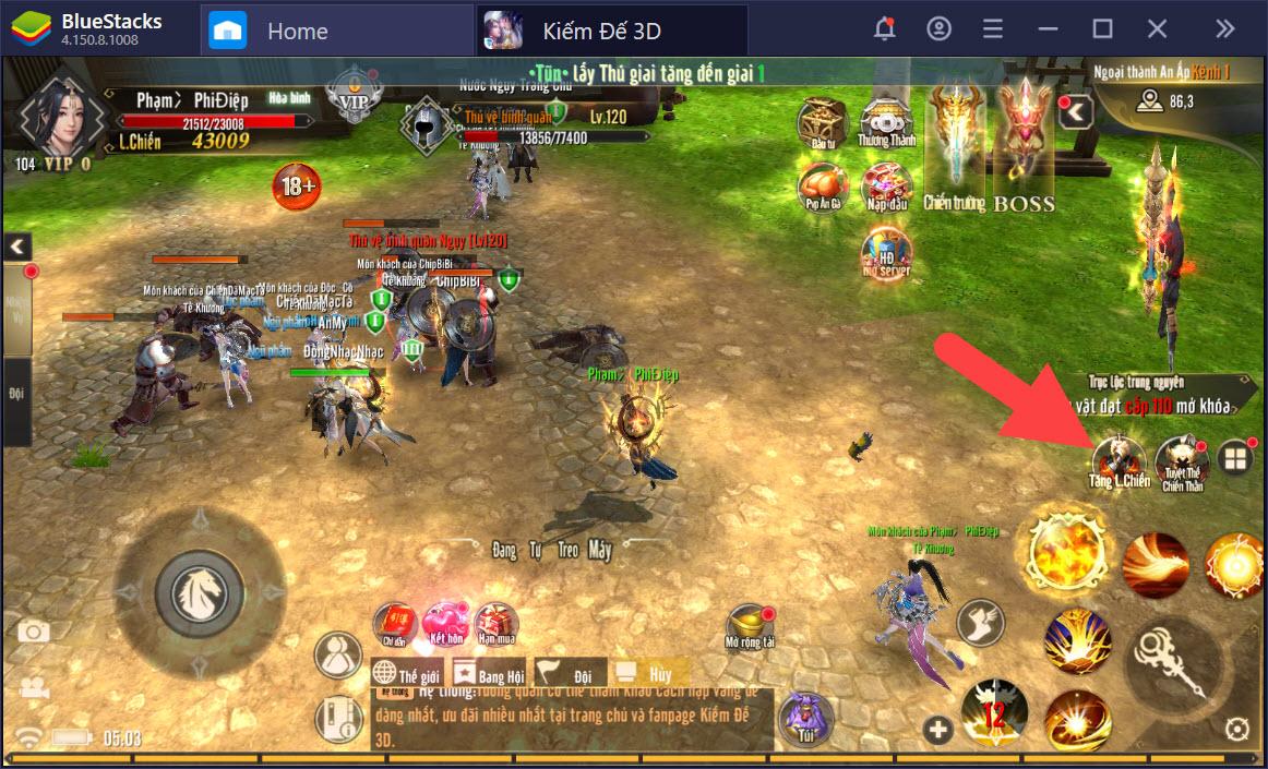 Hướng dẫn gia tăng chiến lực trong Kiếm Đế 3D