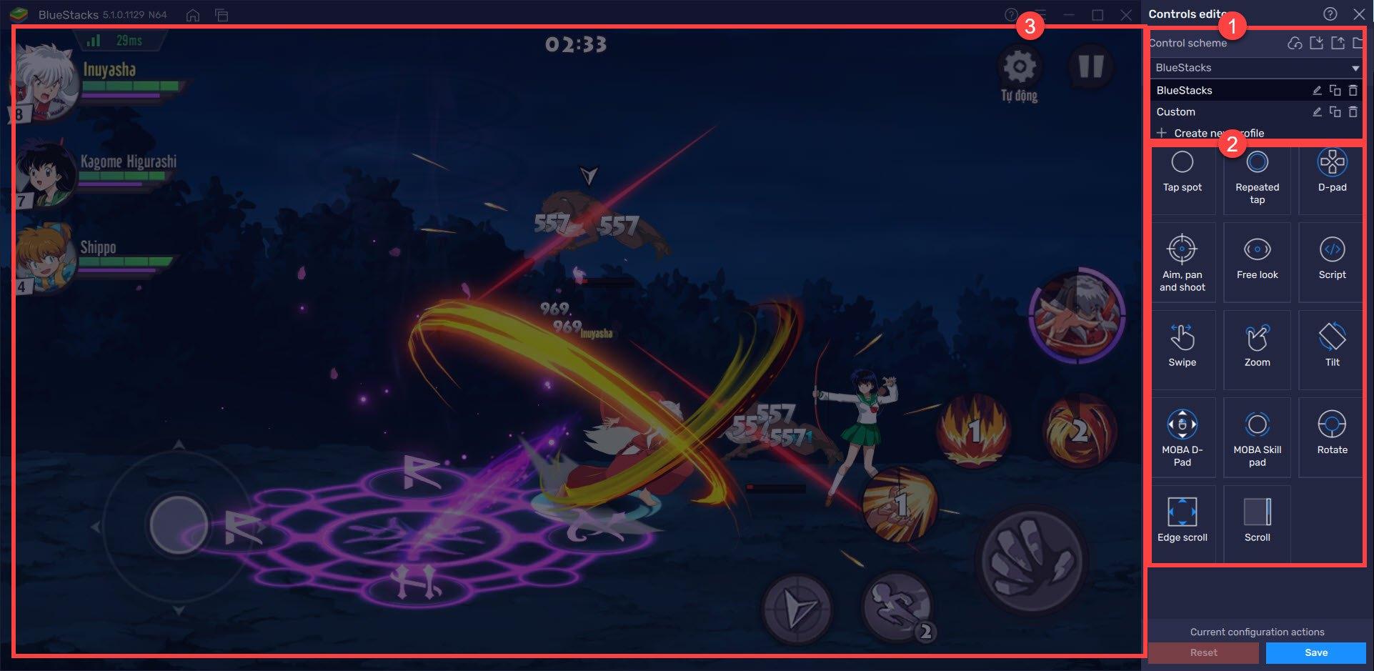 Chơi Khuyển Dạ Xoa Truyền Kỳ trên PC: Hướng dẫn gán phím điều khiển nhân vật