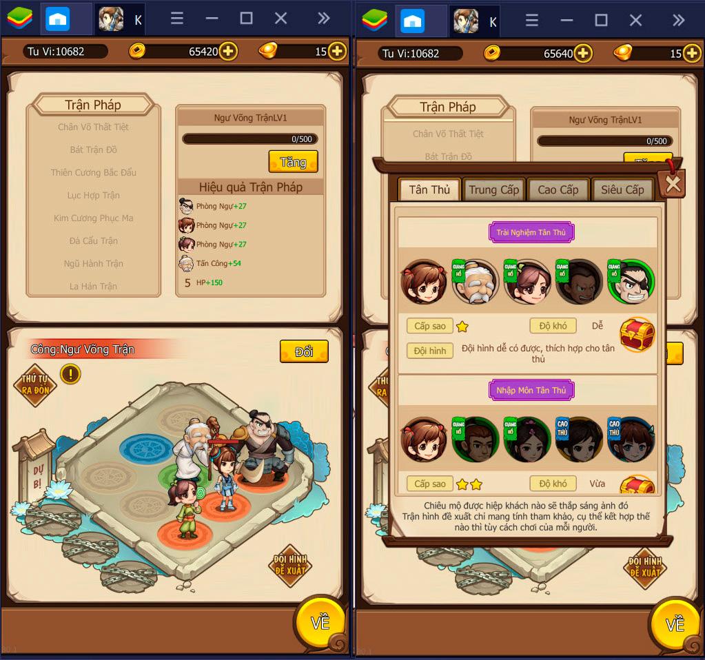 Kungfu Heroes: Nâng cấp và những điều cần lưu ý