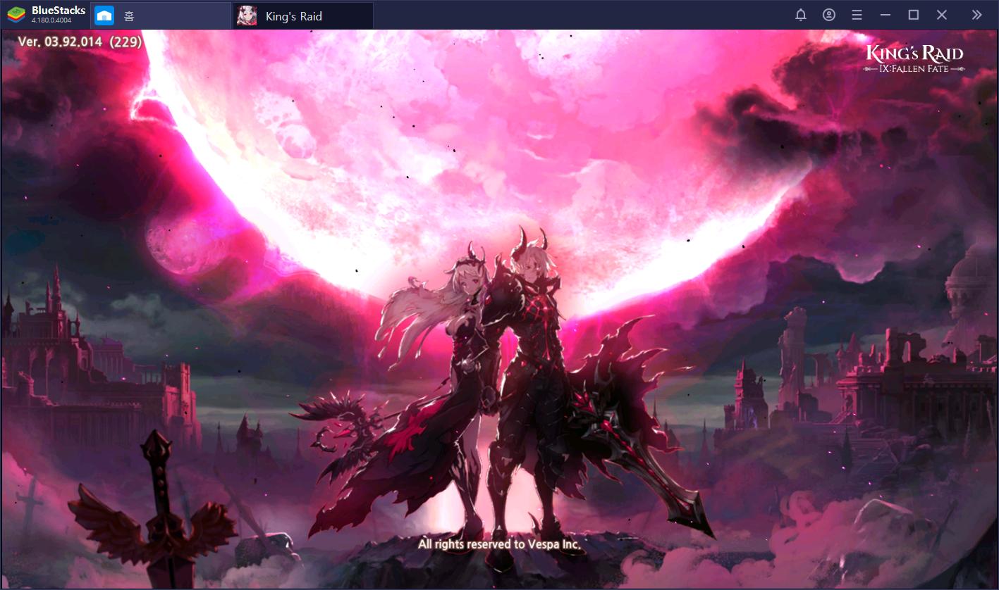 킹스레이드 새로운 영웅 등장! 블루스택 앱플레이어로 만나는 IX : Fallen Fate