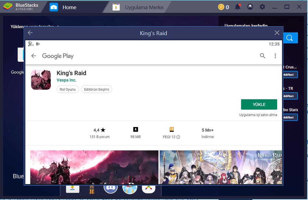 King's Raid BlueStacks Kurulum Rehberi