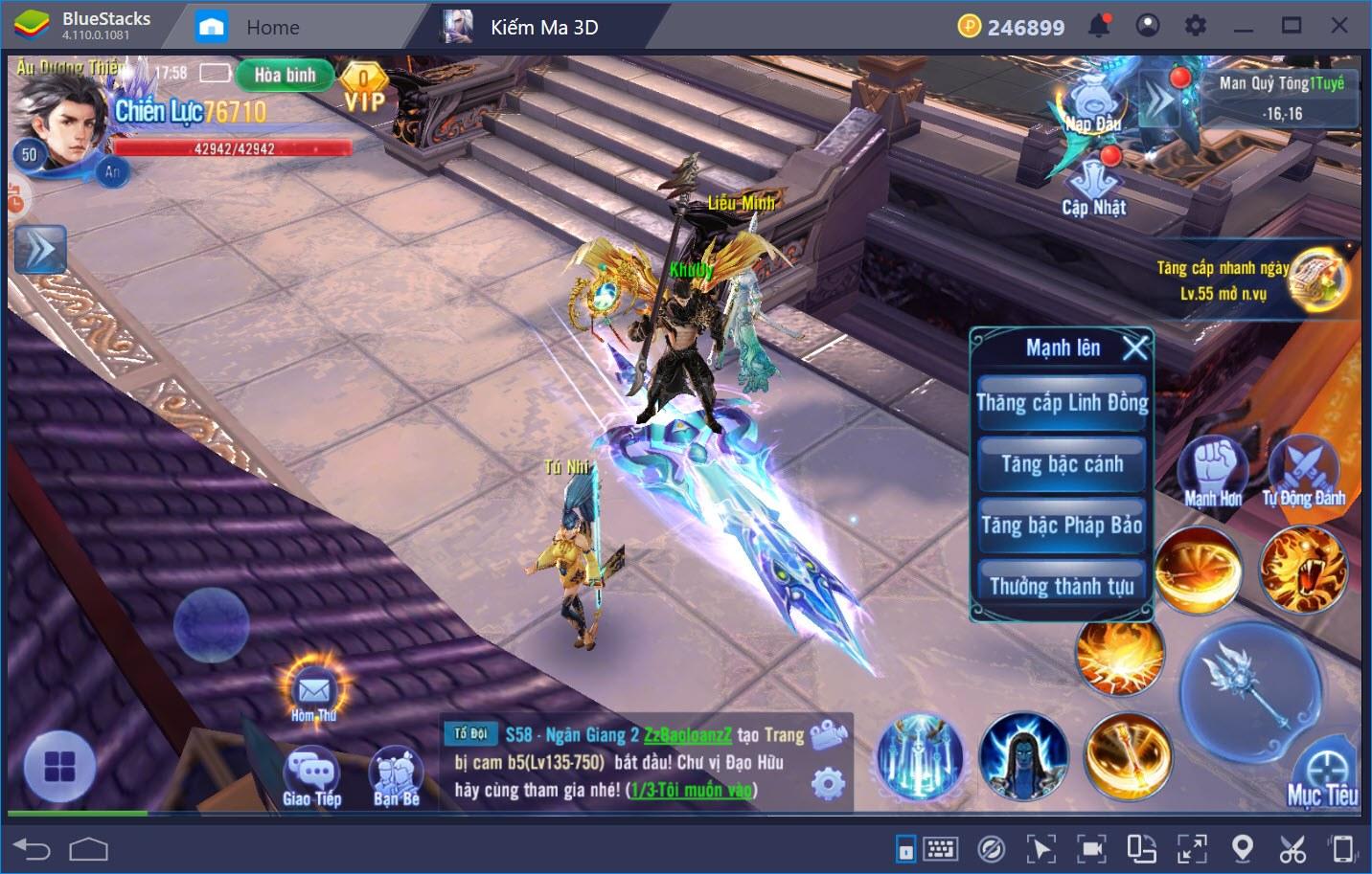 Hướng dẫn nâng cấp nhân vật trong Kiếm Ma 3D
