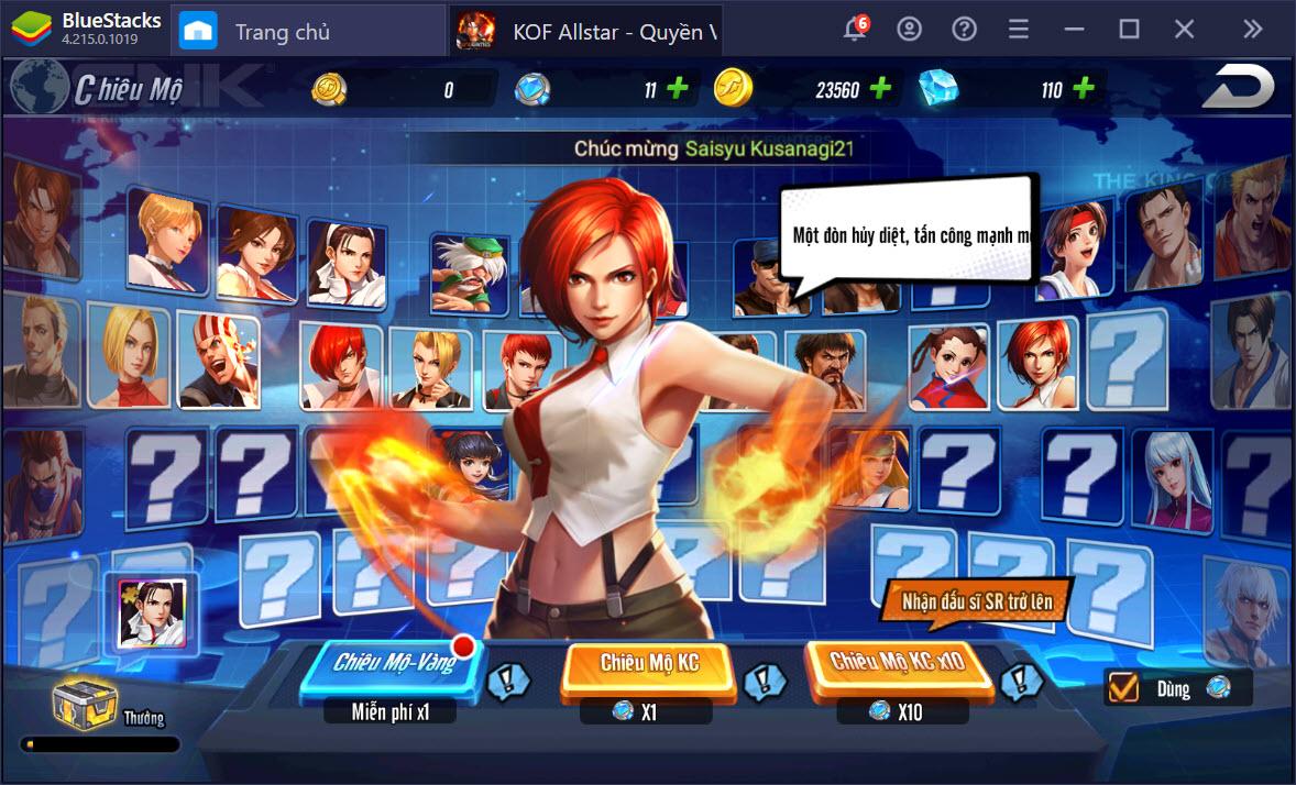 Cách chơi cơ bản KOF AllStar – Quyền Vương Chiến trên PC dành cho người mới