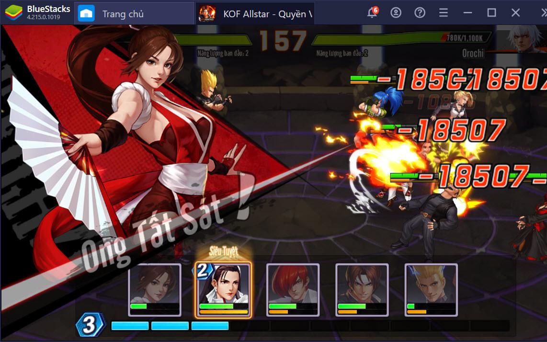 Du hành thế giới đấu sĩ KOF AllStar – Quyền Vương Chiến trên PC cùng BlueStacks