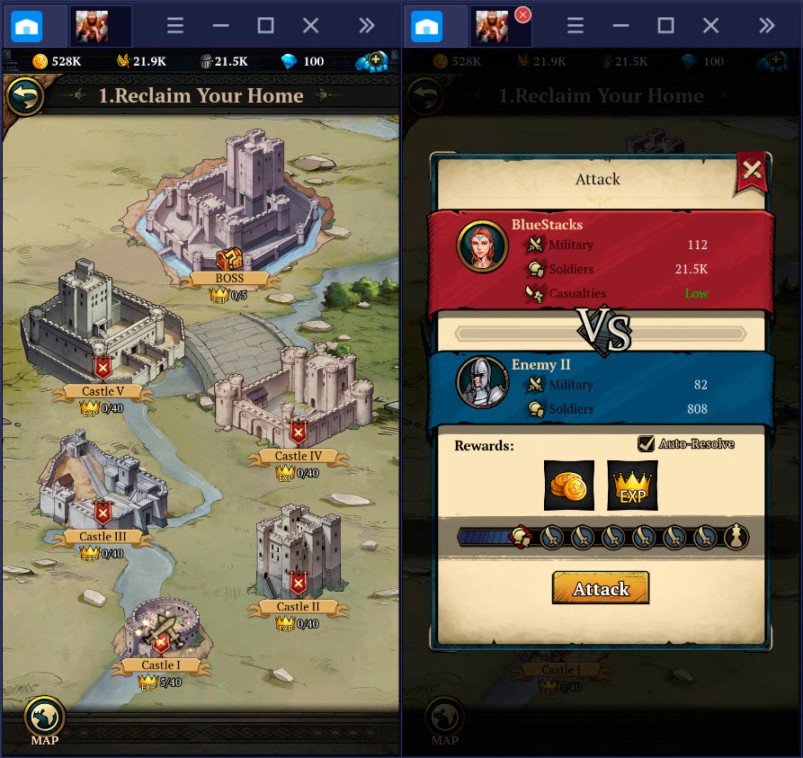 Hướng dẫn cơ bản chơi King's Throne: Game of Lust trên BlueStacks